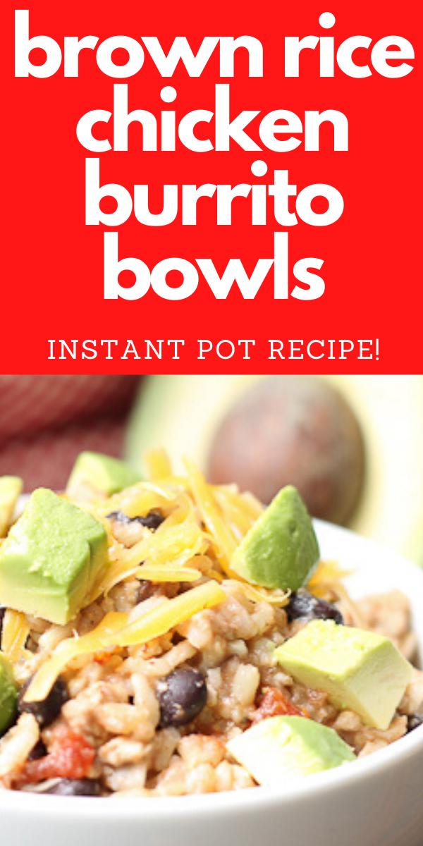 Instant Pot Brown Rice Chicken Burrito Bowl -   19 healthy instant pot recipes chicken burrito bowl ideas