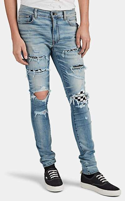 quite nice undefeated x nice cheap Amiri Men's Art Patch Distressed Skinny Jeans   Products in ...