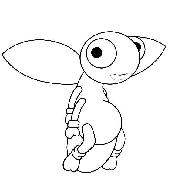 cute firefly coloring page  color luna