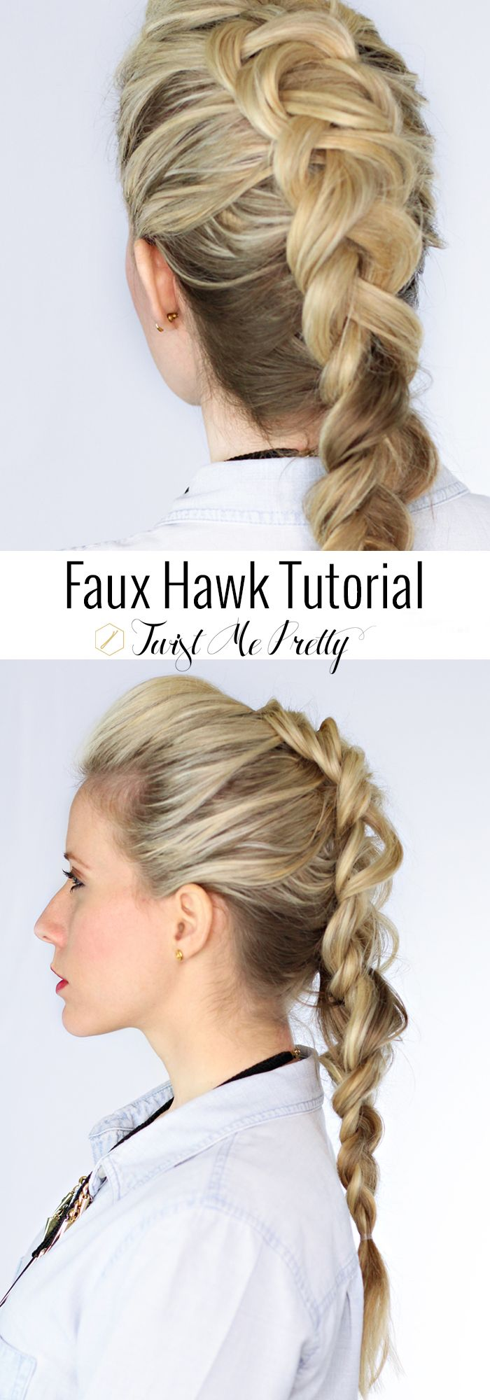 The faux hawk braid love pinterest hair styles hair and faux hawk