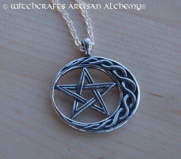 Celtic moon pentacle pendant necklace pentacle moon and pendants celtic moon pentacle pendant necklace mozeypictures Choice Image