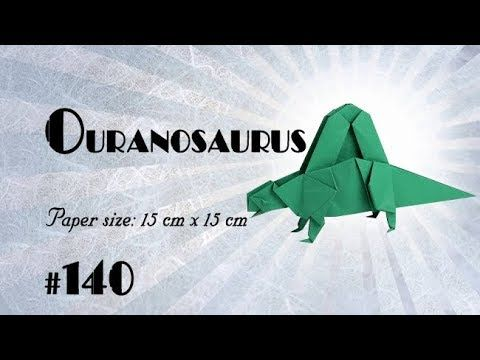 Origami Dinosaur - T-Rex 3D Head - YouTube | 360x480
