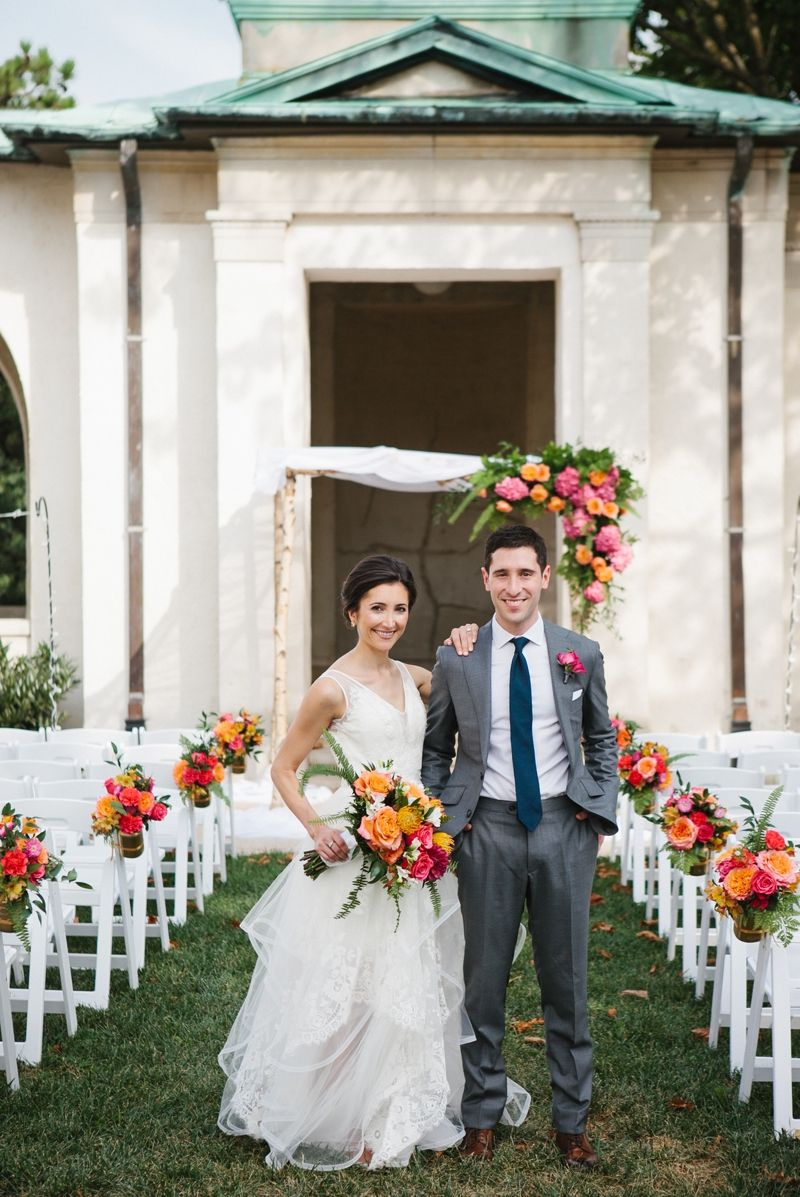 The Open Outdoor E At American Swedish Historical Museum Makes For A Unique Wedding