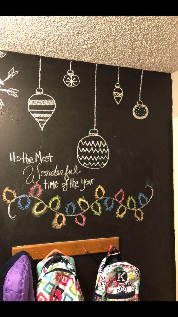 holiday chalkboard  navidad