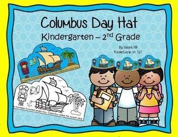 Columbus Day Hat Kindergarten To 2nd Grade Kindergarten Craftivity Kindergarten Columbus