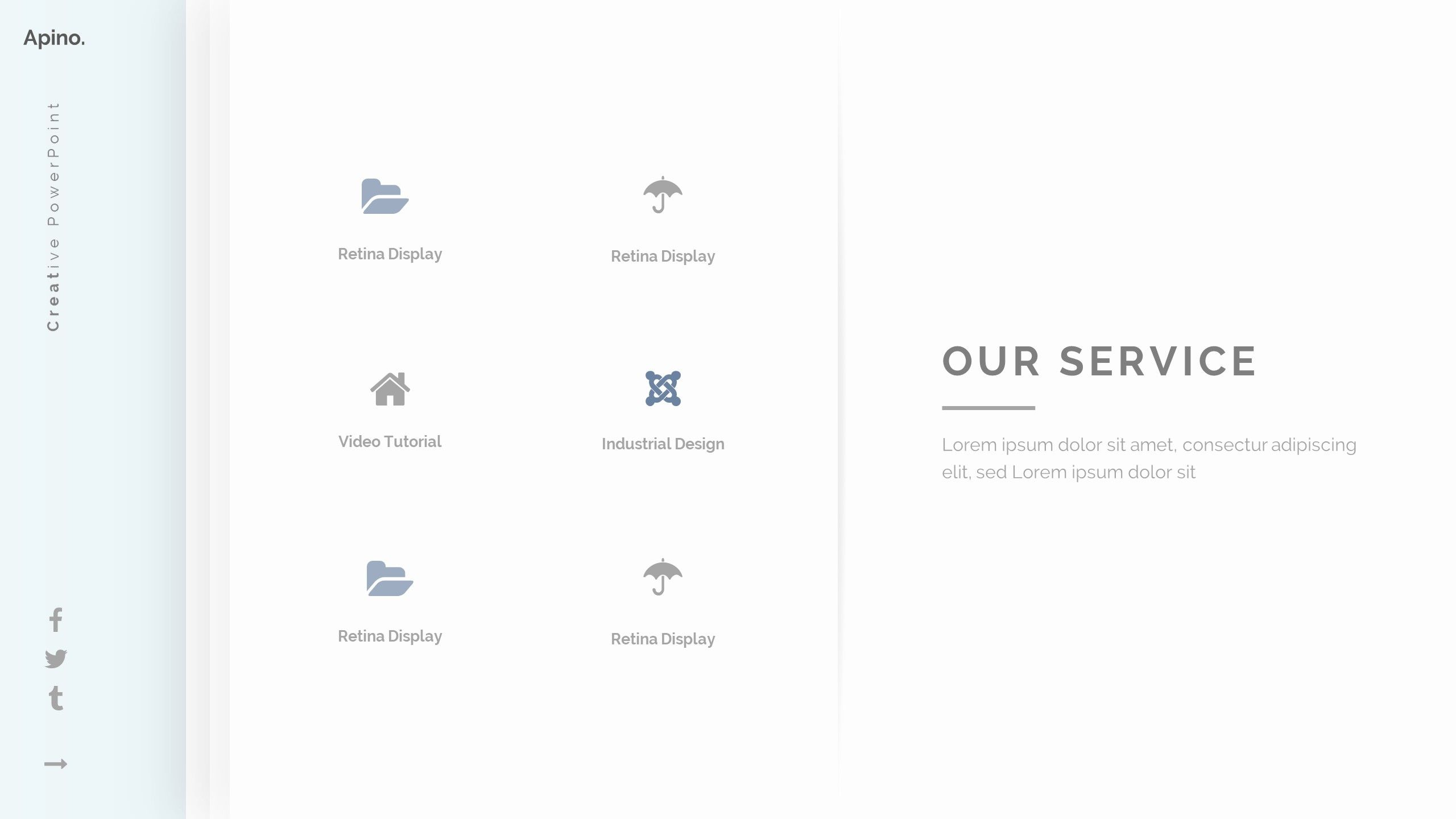 Apino Minimal Google Slide Template (With images