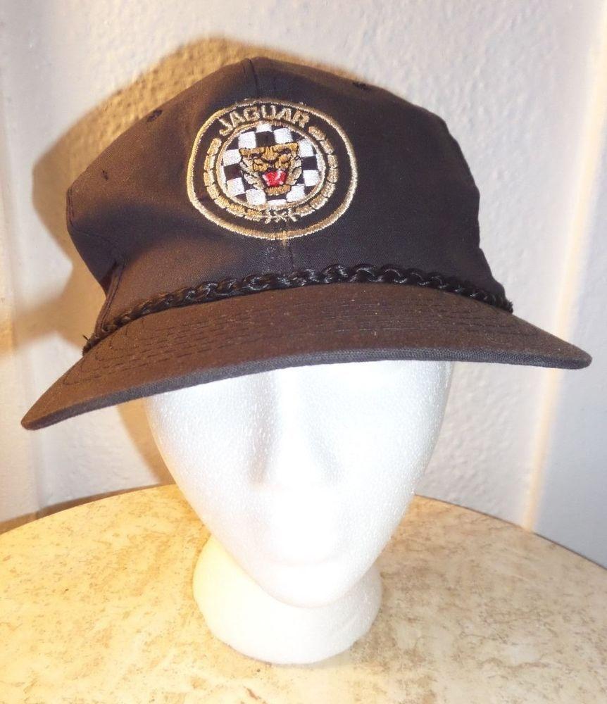 27 99 Vintage Black Jaguar British Racing Automotive Hat Ball Cap Free Shipping Cap Hats Collection Auto Vintage Accessories Black Jaguar Vintage Black