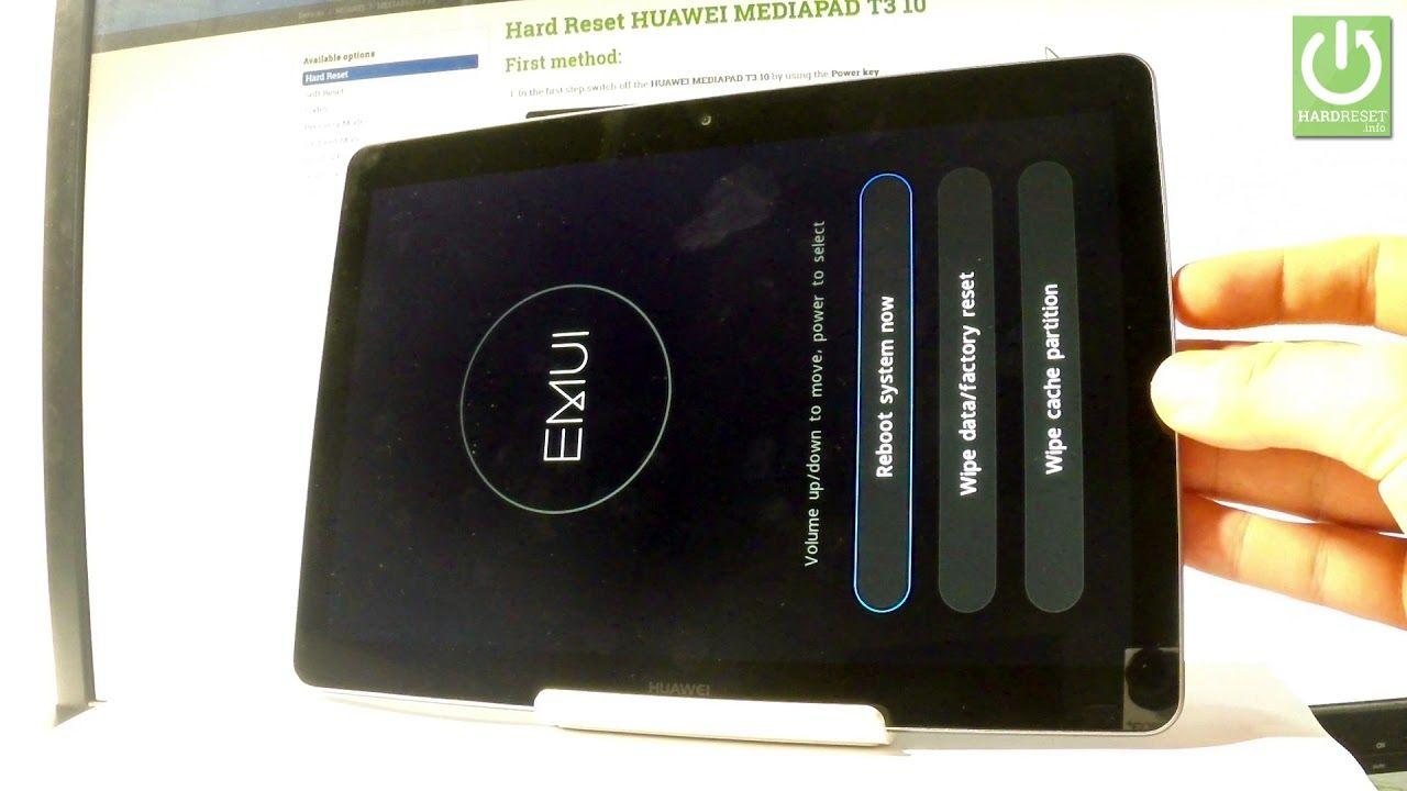 How To Hard Reset Huawei Mediapad T3 Bypass Screen Lock Huawei
