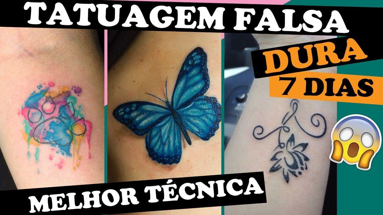 Como Fazer Tatuagem Falsa Em Casa Tio Lucas Tatuagens Falsas