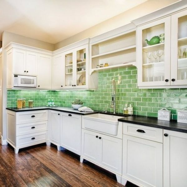 Awesome Backsplash Images For Kitchen Idea:Light Green Subway Kitchen Backsplash  Images Sleekly Light Green Color Design For Kitchen Backsplash Images By ... Photo Gallery