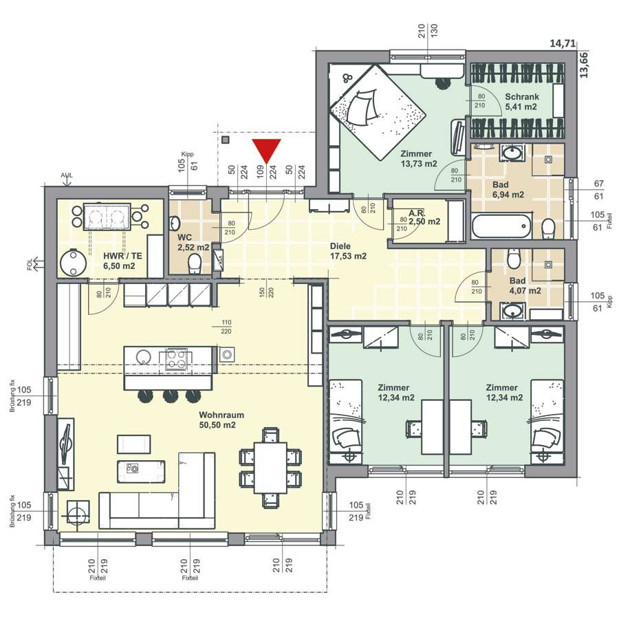 Bungalow 134 qm Kinderzimmer zu klein, Küche zu klein, überdachte ...