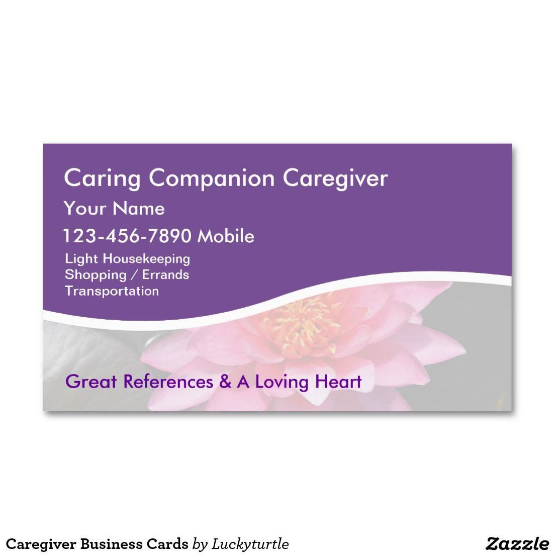 Caregiver Business Cards | Medical Themed Business Cards ...