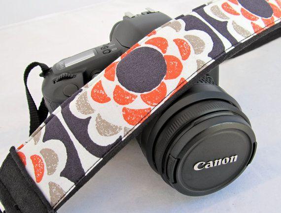 dSLR Camera StrapsPenny Wheel Flowers by FunkyMutt on Etsy, $29.99