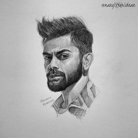 Virat Kohli Pencil Sketches