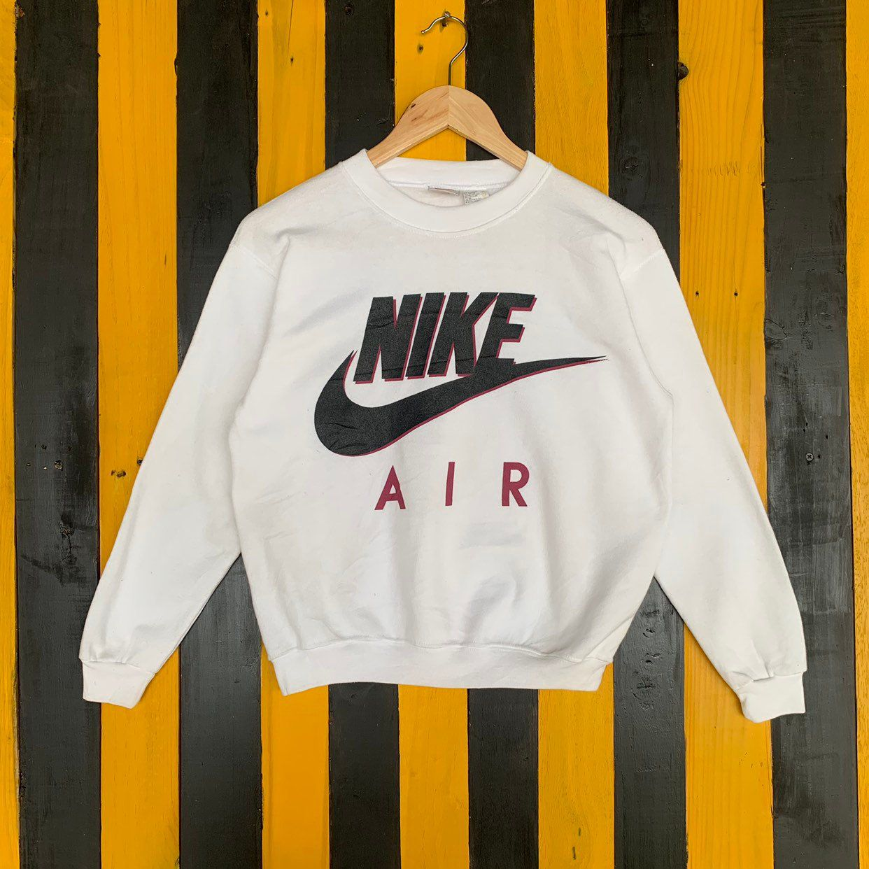 Excited To Share The Latest Addition To My Etsy Shop Vintage 90s Nike Air Big Logo Sweatshirt Jumper Pullover Crewneck Whit Clothes Used Clothing Sweatshirts [ 1242 x 1242 Pixel ]