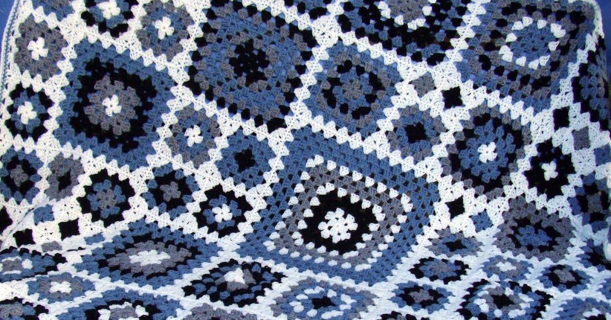 granny square crochet pattern granny blanket | 5 Bbb | Pinterest