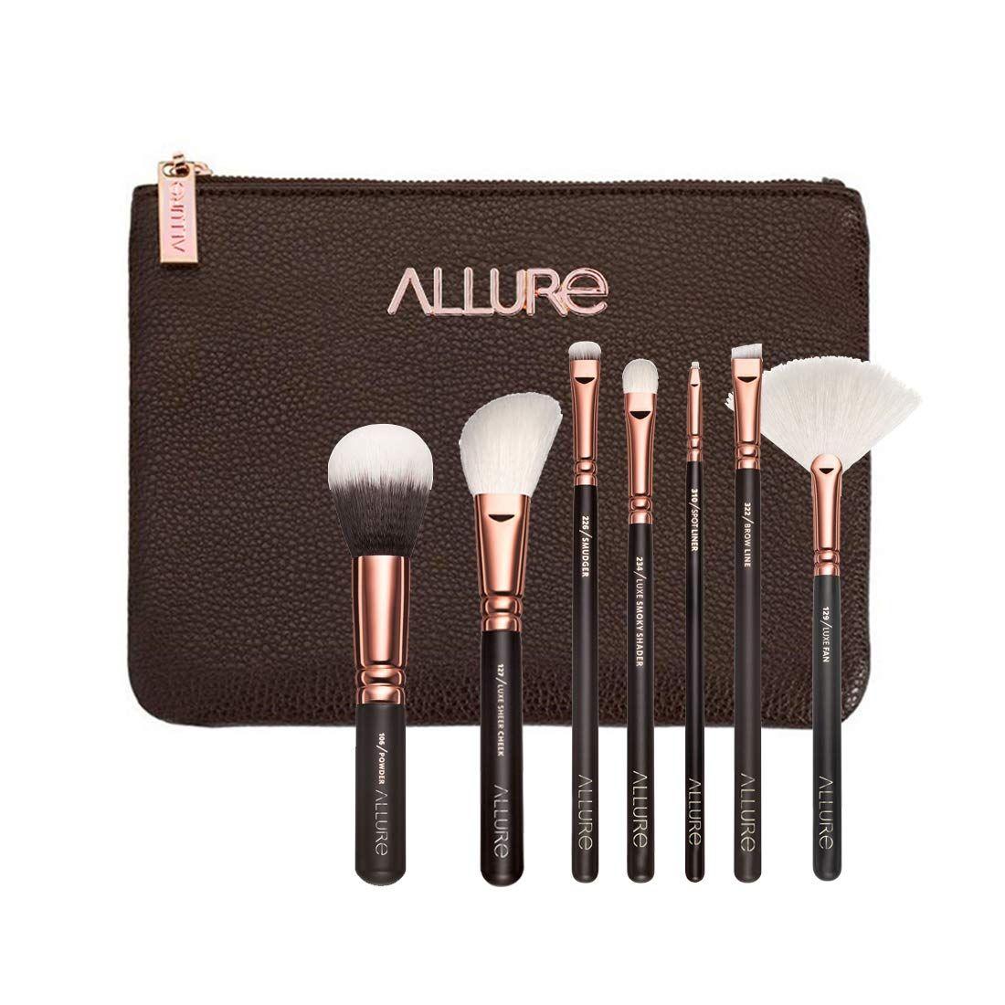 Allure Professional Makeup Brushes Kit (Rose Gold) Set