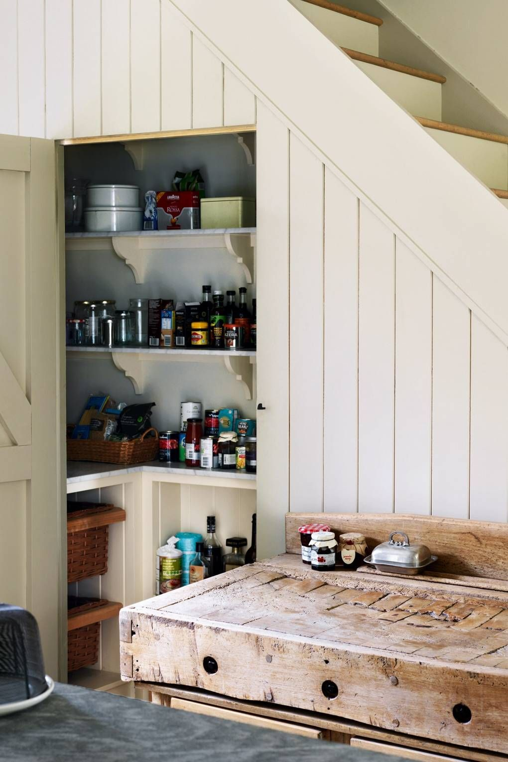 kitchen case study a country style kitchen by plain english cupboard design stairs in on kitchen under stairs id=31638
