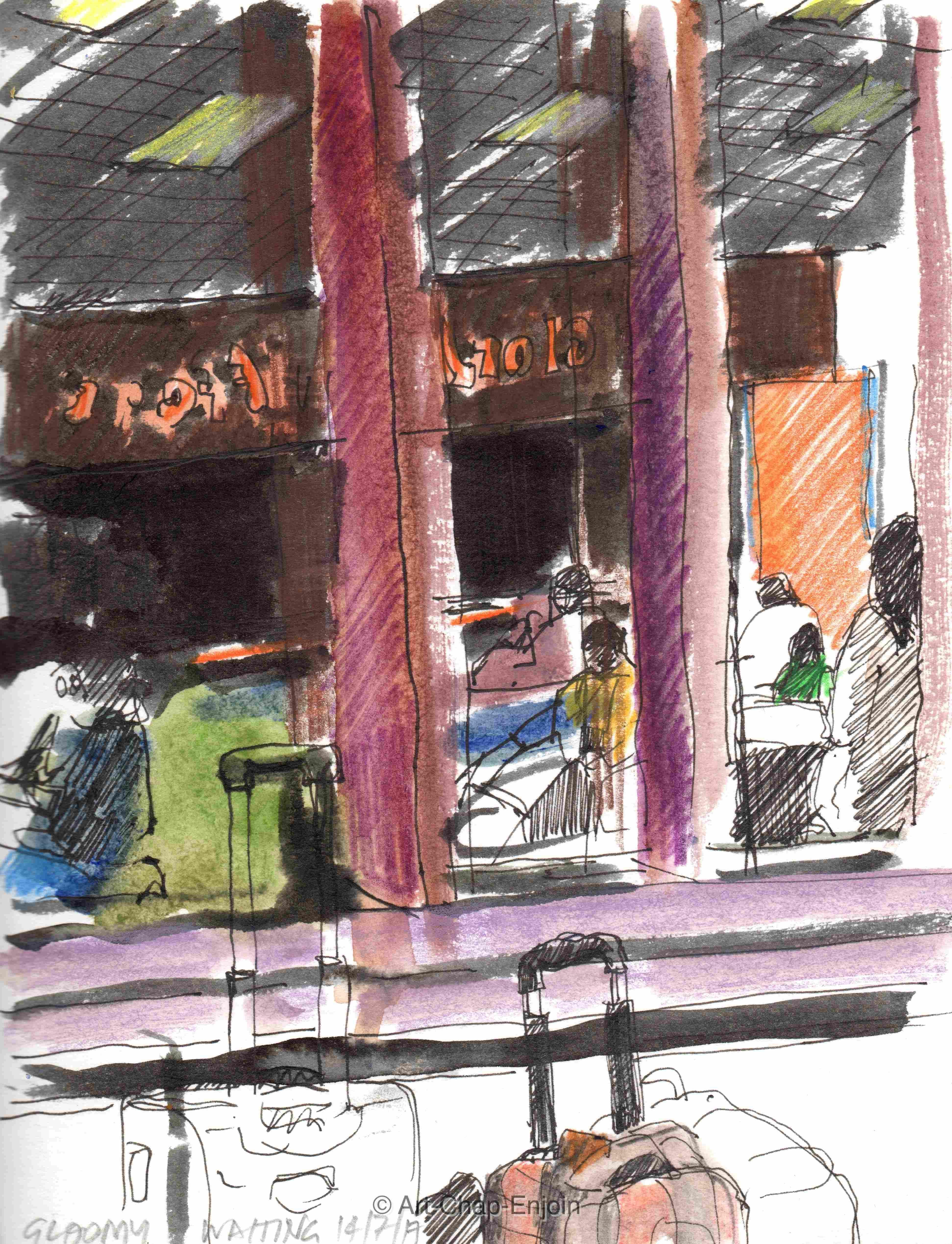448 Gloomy waiting Artwork, Waiting, Sketches