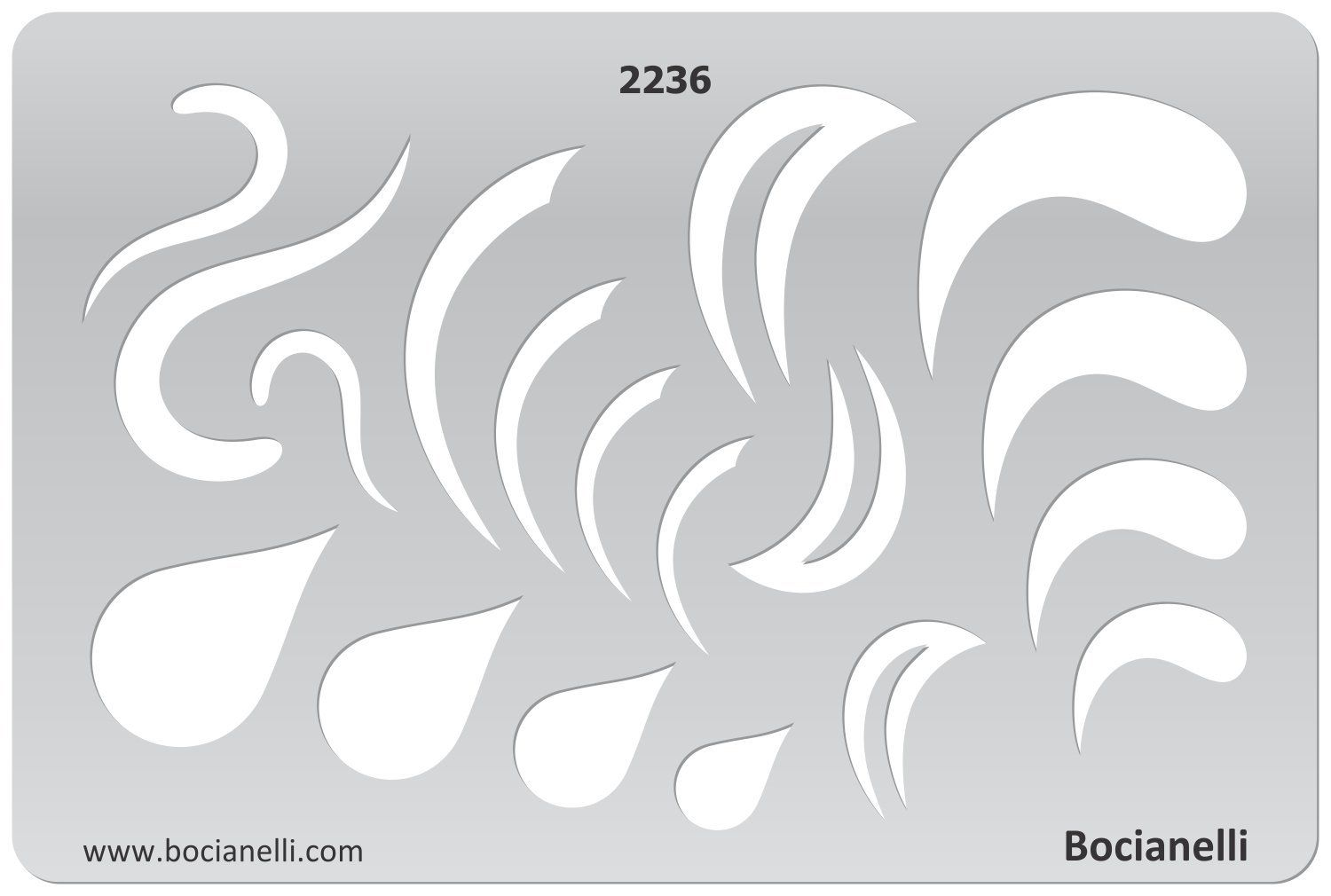 Amazon.com: Plastic Stencil Template for Graphical Design Drawing ...