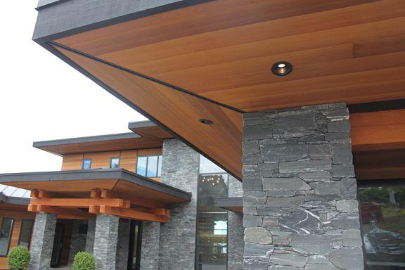 Clear cedar soffit