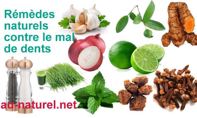Remèdes naturels contre le mal de dents