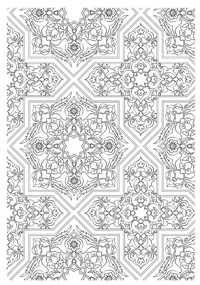 coloriage adulte mosaique