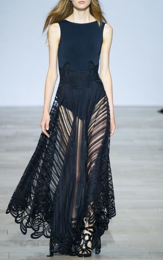 Embroidered Knit Gown by ANTONIO BERARDI for Preorder on Moda Operandi