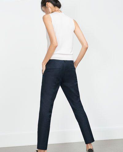28c4c55667 Immagine 3 di PANTALONI DOPPIO TESSUTO di Zara   4Seasons Trends ...
