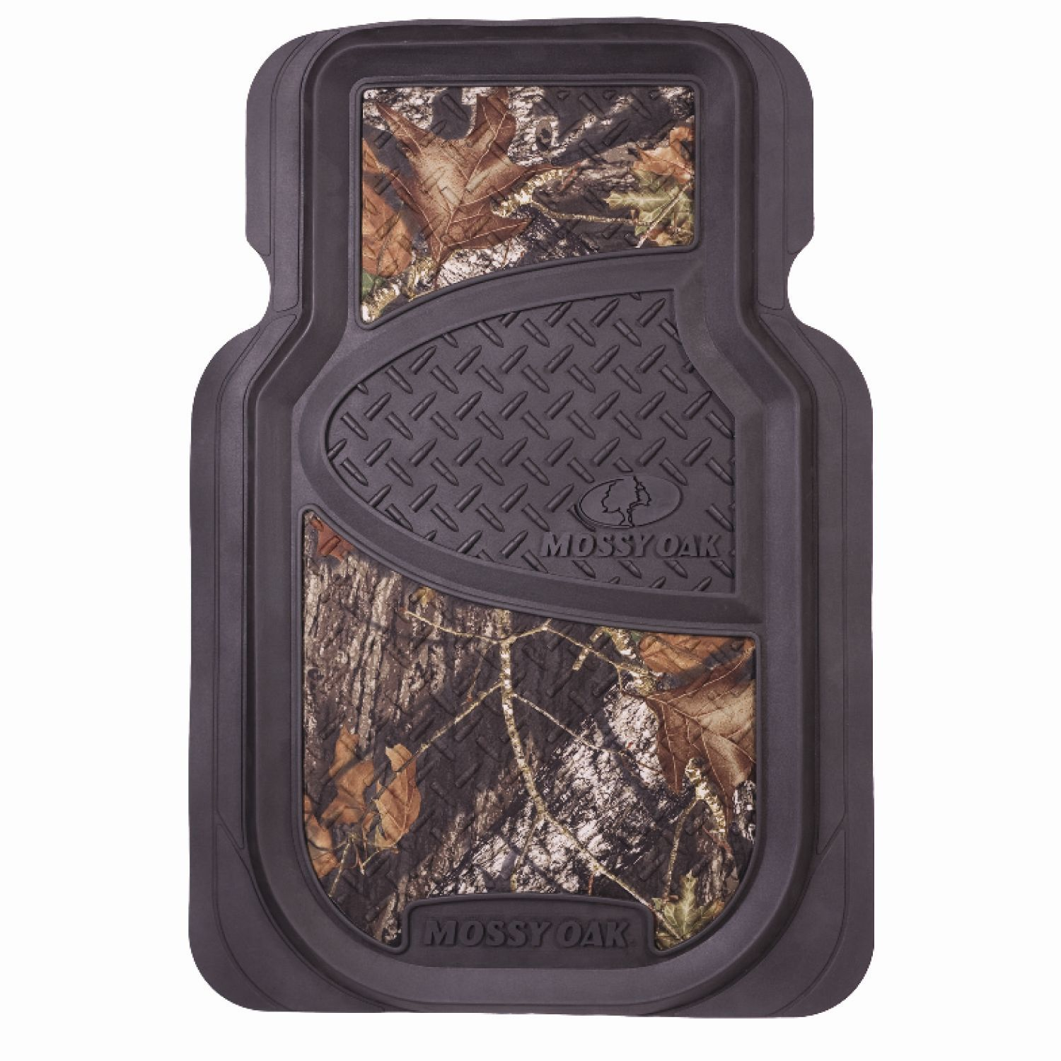 Mossy Oak 2 Piece Universal Rubber Floor Mat Set Camo