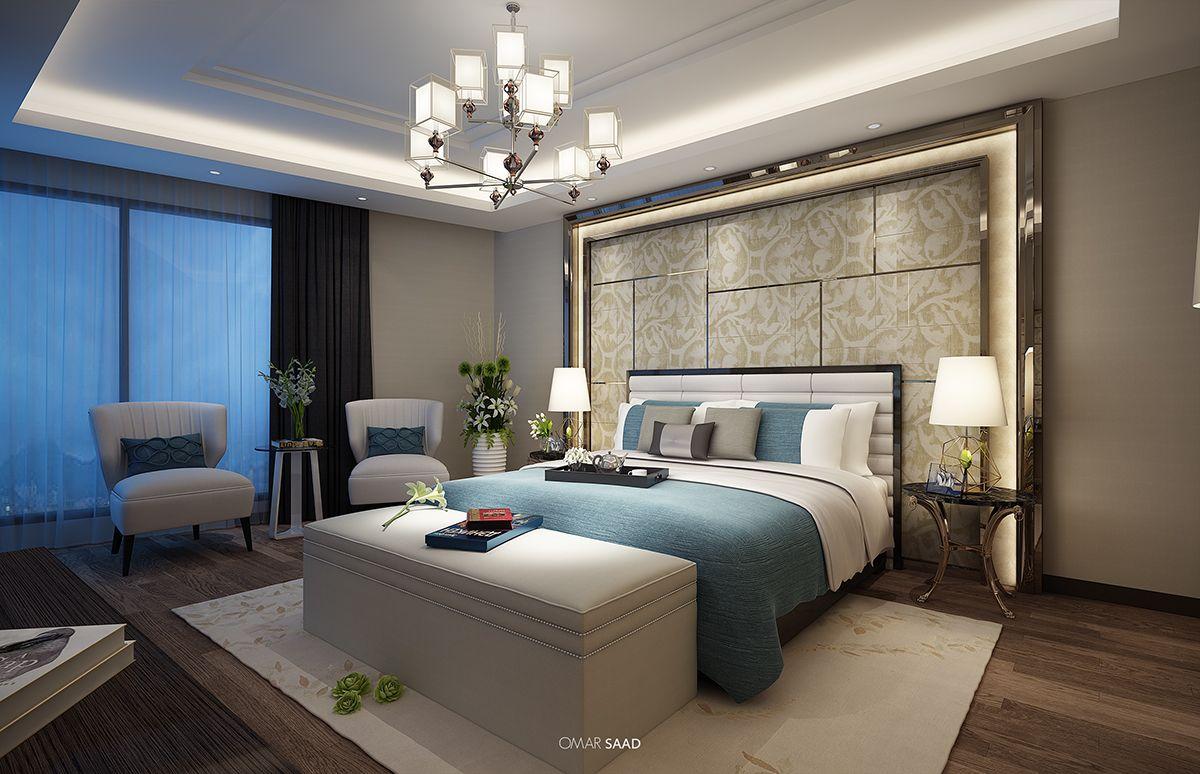 Suite guest bedroom interior design on behance