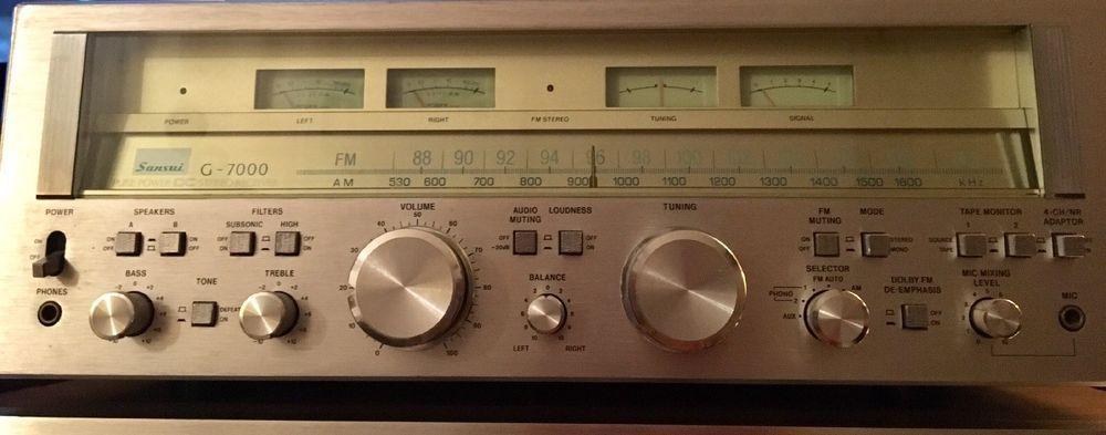 sansui g 7000 pure power stereo receiver pinterest rh pinterest com Sansui AU-999 Sansui 7000 Review