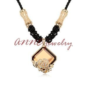 2015 New Austrian crystal necklace 18k gold flower long necklaces & pendants sweater Accessories -in Pendant Necklaces from Jewelry on Aliexpress.com | Alibaba Group