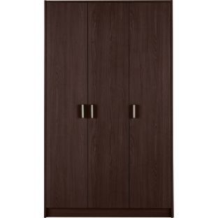 buy venetia 3 door wardrobe wenge effect at. Black Bedroom Furniture Sets. Home Design Ideas