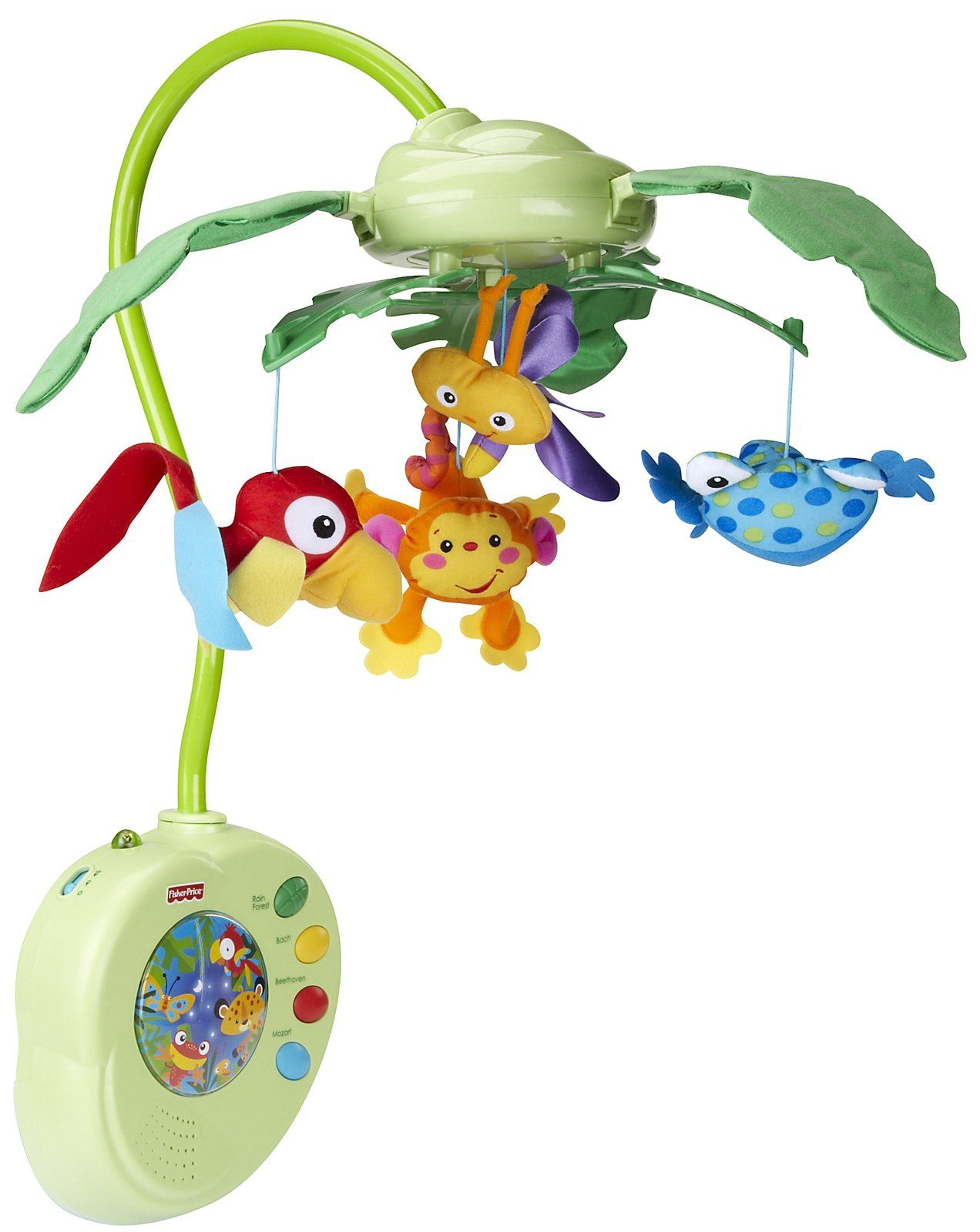 Fisher Price Rainforest Peek A Boo Leaves Musical Mobile  #Diaperscomnursery