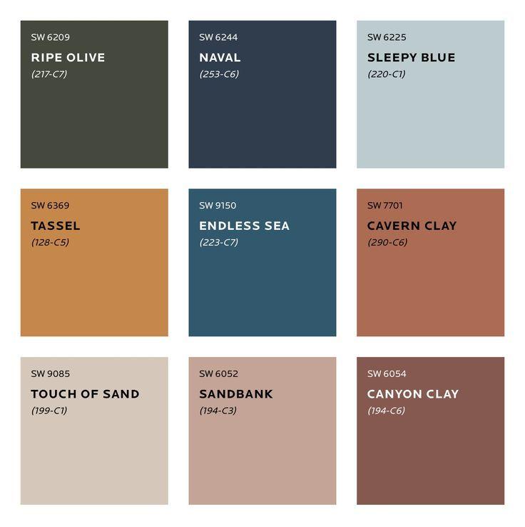 Farbtrends für 2020 - Household #peinturesalontendance