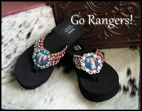 026afa4a9239 Texas Ranger Custom Bling Flip Flops-funky cowgirl jewelry