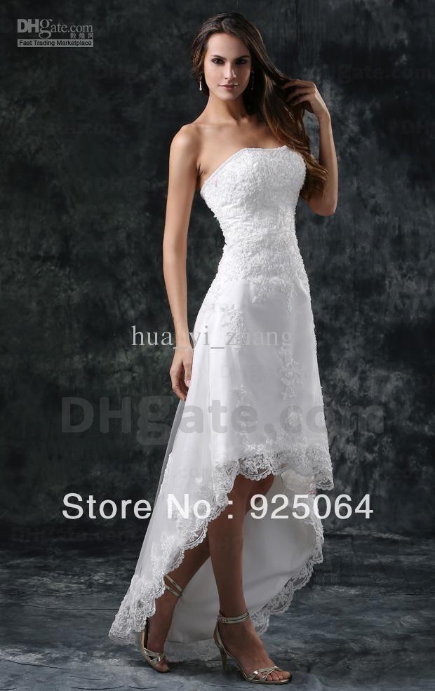 Wholesale - Beach A Line Wedding Dresses Bridal Gowns Strapless ...