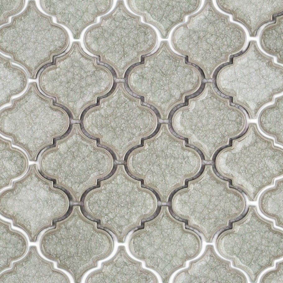 Roman Frosty Morning Arabesque Glass Tile Arabesque Tile