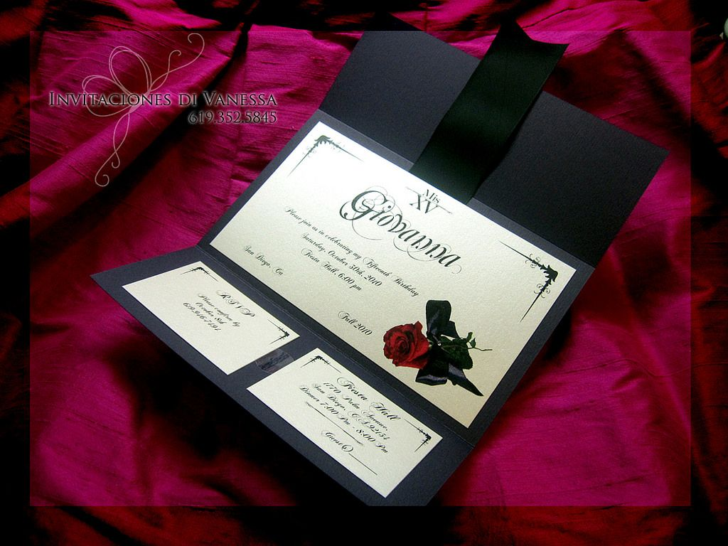 Phantom Of The Opera Invitation Wedding Invitations Masquerade