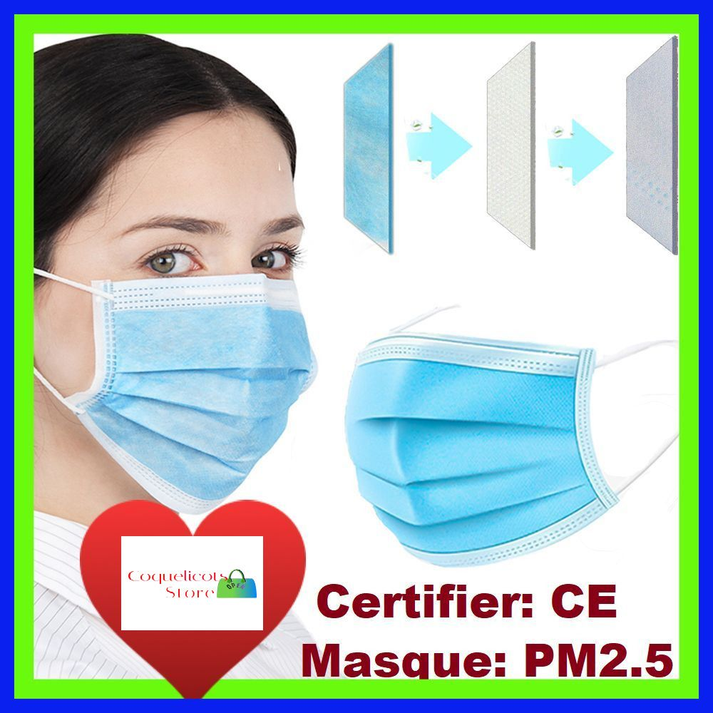 masque medical antivirus jetable