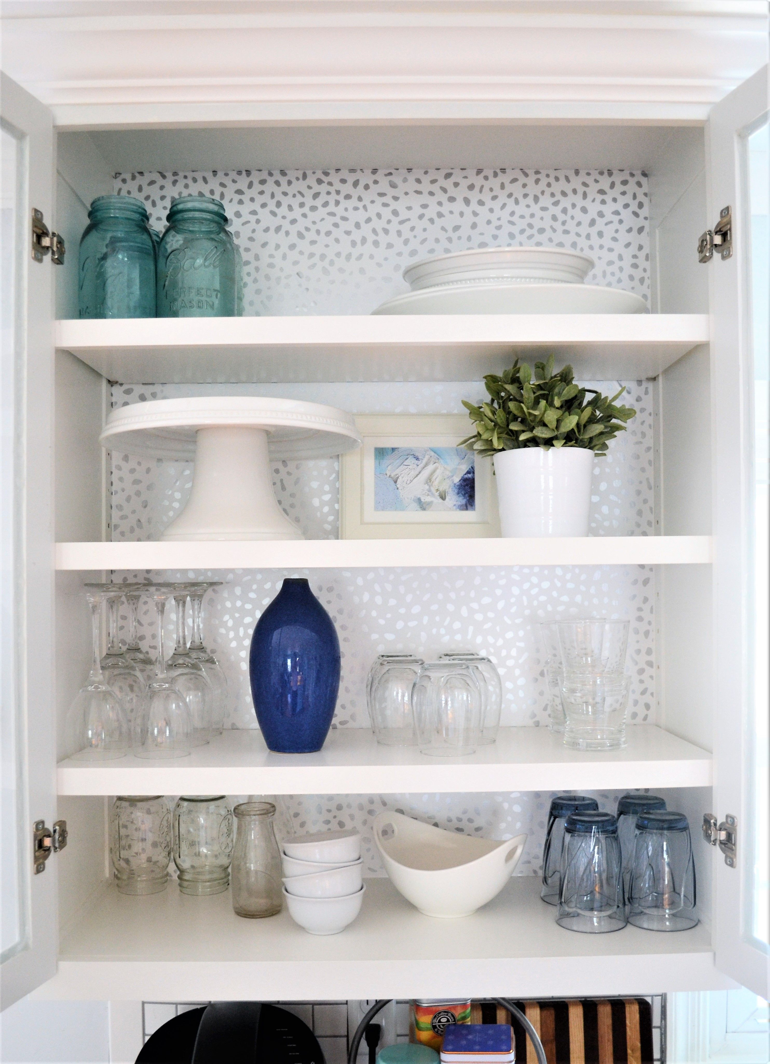 Removable Wallpaper With Devine Color Inside Kitchen Cabinets Kitchen Diy Makeover Glass Kitchen Cabinets
