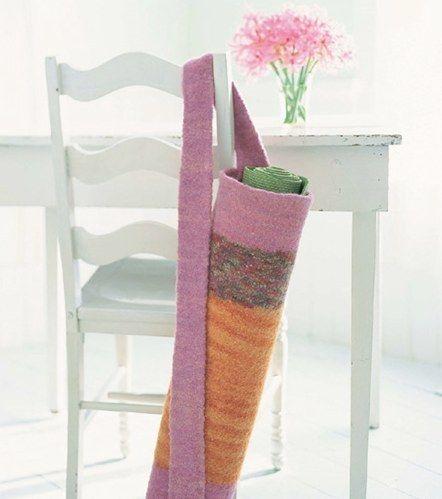 Felted Yoga Mat Bag | Knitting, Yarn organization ...