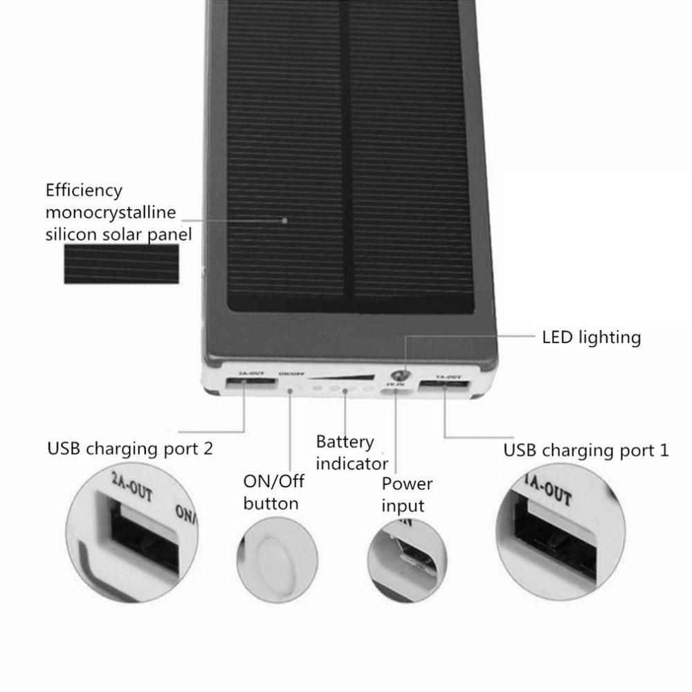Sold 2594263221 Items Portable Size 50000mah Large Capacity Solar Panel Power Bank Outdoor Extern External Battery Charger Car Battery Hacks Phone Case Design