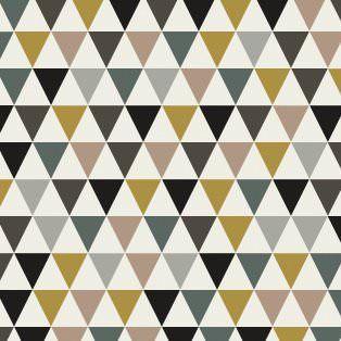 tissu triangles fond blanc coloris fin de si cle par aime. Black Bedroom Furniture Sets. Home Design Ideas