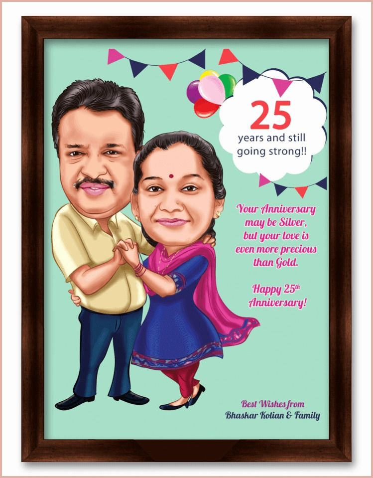 25th anniversary gifts for parents