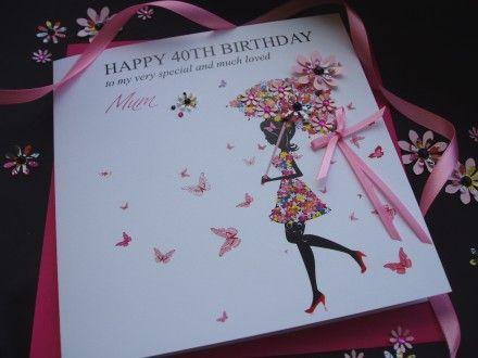 Birthday Cards Personalised Birthday Cards Pinkandposh Co Uk Handmade Birthday Cards Personalized Birthday Cards 40th Birthday Cards