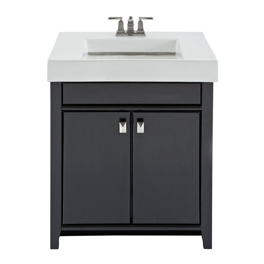Magick Woods 30-in Black Clareview Single-Sink Bathroom Vanity With Top Our  New