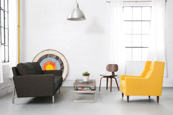a yellow chair yes please home pinterest modern and mid century