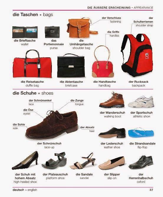finest selection 0e0a6 0ae98 Deutsch Taschen und Schuhe | Italienisch lernen | Deutsch ...